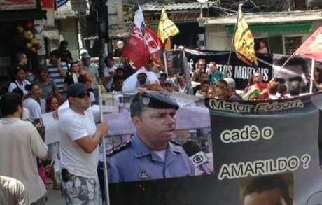 <p>Moradores da Rocinha fizeram vários protestos por causa do desaparecimento de Amarildo</p>