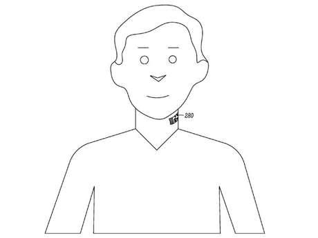 Tatuagem ficaria no pescoço e serviria como microfone para smartphones