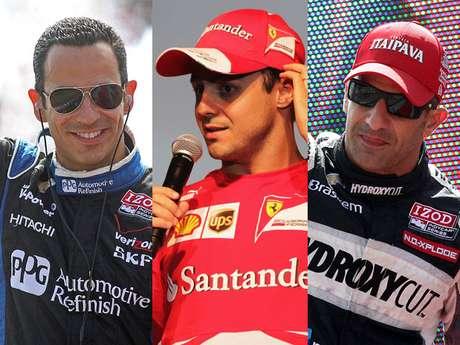 <p>Castroneves, Massa e Kanaan concorrem ao principal categoria, a Internacional Top</p>