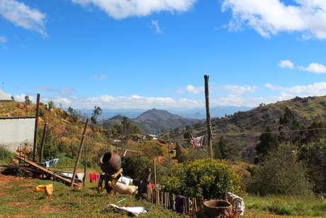 <p>Vista registrada em um domingo ensolarado no povoado deQuingeo</p>