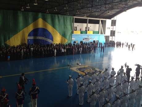 <p>A presidente Dilma Rousseff, membros do governo e familiares de Jango participam da cerim&ocirc;nia em Bras&iacute;lia</p>