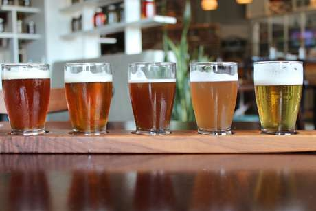 <p>O restaurante produz nove tipos de cervejas</p>