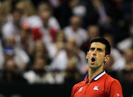 <p>Djokovic foi superior e venceu com parciais de 7/5, 6/1 e 6/4</p>
