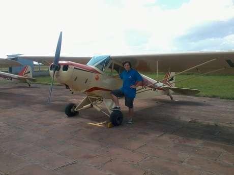 O estudante Volney Ferraz, 19 anos, ganhou uma bolsa integral para realizar o sonho de ser piloto, por meio do Prouni