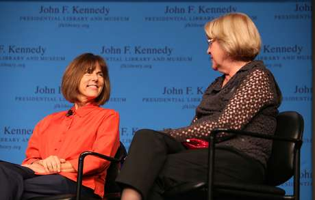 Janis Hirsch durante a primeira exibição do documentário no Museu Kennedy, em Boston, no dia 17 de setembro