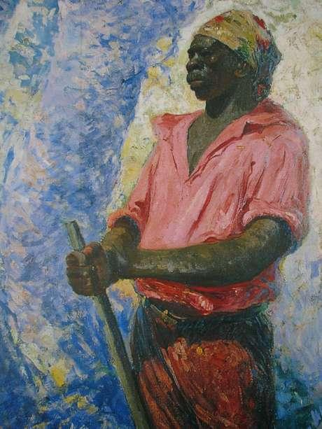 Pintuira retrata o herói nacional Zumbi dos Palmares