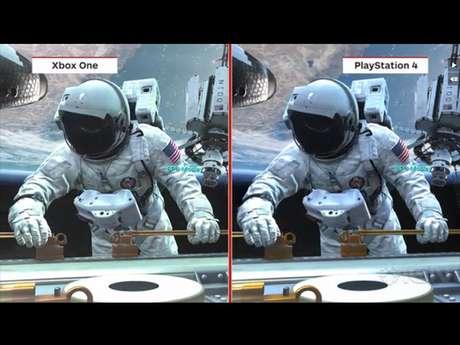 Resolução do Xbox One é menor do que o PS4, 720p contra 1080p, porém diferença é minimamente percebida
