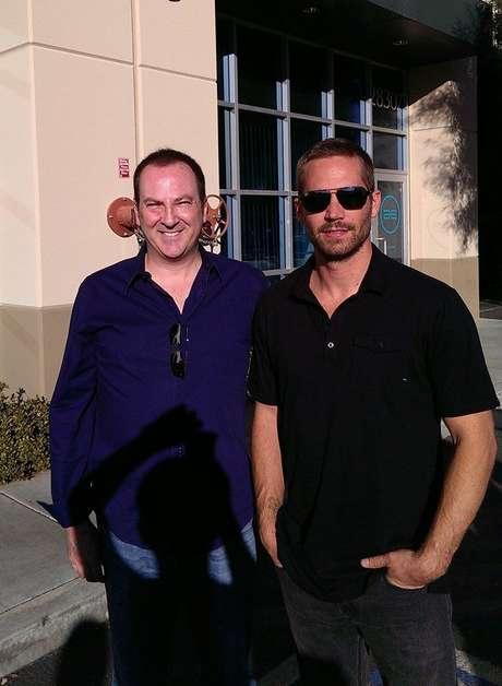 Bill Townsend e Paul Walker horas antes do acidente