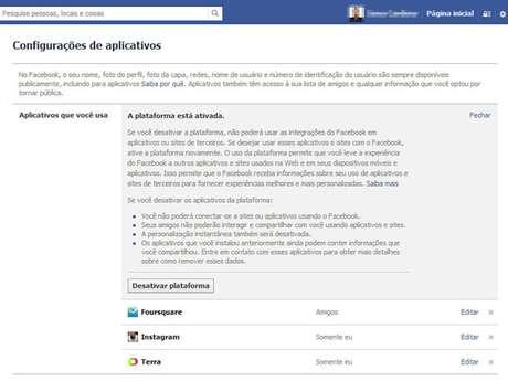 A única forma de escapar de ter suas informações públicas - nome de perfil, foto de perfil e lista de amigos - compartilhadas por amigos que usam aplicativos é desabilitando a plataforma de aplicativos do Facebook