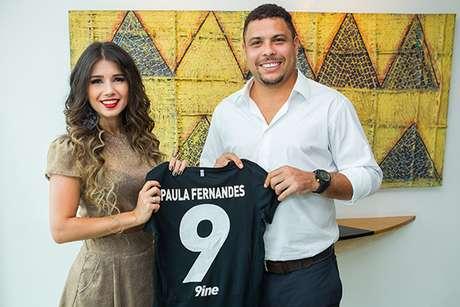 Paula será agenciada pela empresa de Ronaldo