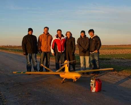 <p>Voo pioneiro de um drone brasileiro nos EUA foi realizado na Fazenda Experimental da Universidade de Purdue</p>