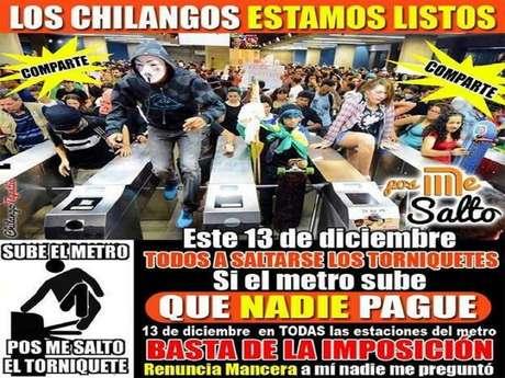 <p>Con el hashtag #PosMeSalto, los usuarios señalaron que no van a pagar la nueva tarifa de 5 pesos por viaje anunciada por el director del STC Metro.</p>