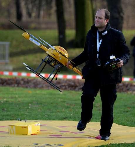 <p>Drone foi testado por controle remoto</p>