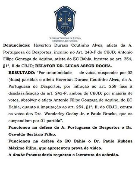 <p>Julgamento envolvendo escalação do meia Héverton livrou Fluminense da segunda divisão</p>
