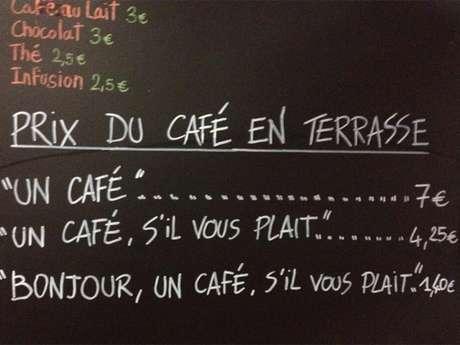 """<p>No estabelecimento La Petite Syrah, em Nice, se você pedir simplesmente """"um café"""" paga mais caro pela bebida</p>"""