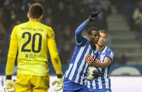 <p>Adri&aacute;n Ramos, do Hertha Berlim, &eacute; o terceiro na tabela de artilharia do Campeonato Alem&atilde;o</p>
