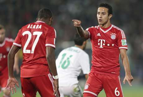 <p>Filho do brasileiro Mazinho, Thiago marcou o segundo gol do Bayern</p>