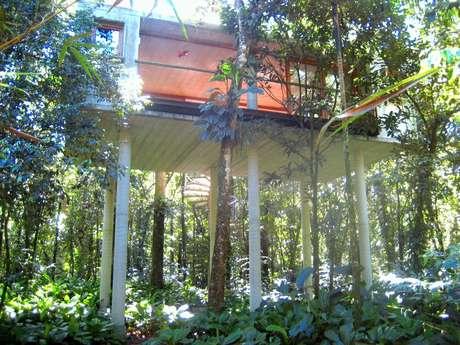O arquiteto escocês George Mills escolheu o Litoral Norte de São Paulo para literalmente erguer um refúgio no meio da Mata Atlântica: a casa foi construída sobre pilares de seis metros de altura, colocando a copa das árvores ao alcance das mãos. Informações: (11) 3037-7199