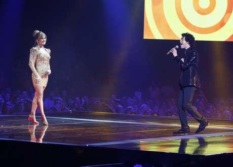 <p>Sam Alves e Claudia Leitte se apresentaram juntos na final</p>