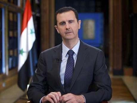 <p>O presidente sírio, Bashar al-Assad,durante uma entrevista à televisão estatal da Venezuela, a TeleSUR, em Damasco (imagem de arquivo)</p>