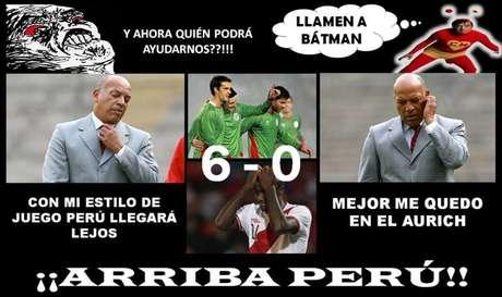 El accionar de la selección peruana ha sido objeto de burlas en la web. Y es que la goleada 6-0 en contra generó todo este malestar entre los aficionados.