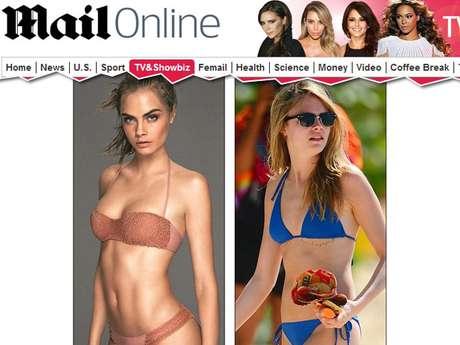 Na foto da campanha, ela aparece com mais curvas e mais bronzeada do que o usual