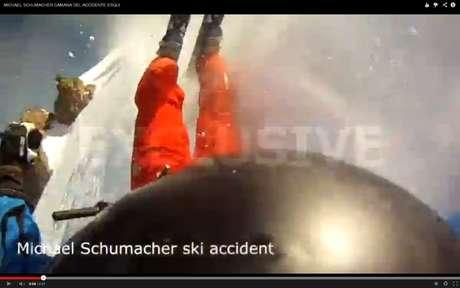 <p>Imagens pouco claras registram queda de esquiador</p>
