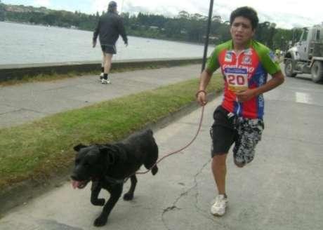Corrida con mascotas en La Serena.