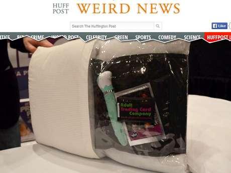 <p>O travesseiro permite que os adeptos de brinquedos eróticos escondam seus objetos</p>