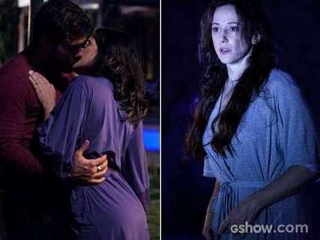 A médica vê o casal se beijando, mas é notada