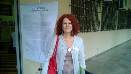 Lila Tello faz parte da organização Segurança para a Família Cromañon Nunca Mais