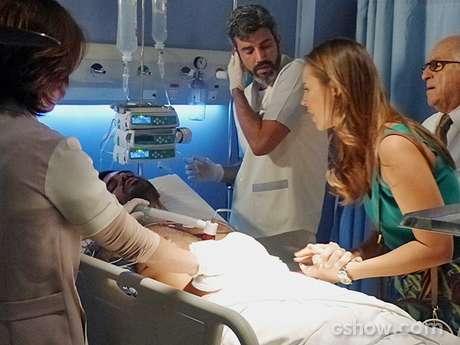Ninho é socorrido no hospital San Magno