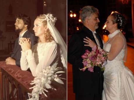 <p>Eles optaram pela celebração e festa do modelo mais clássico e com tudo a que tinham direito</p>