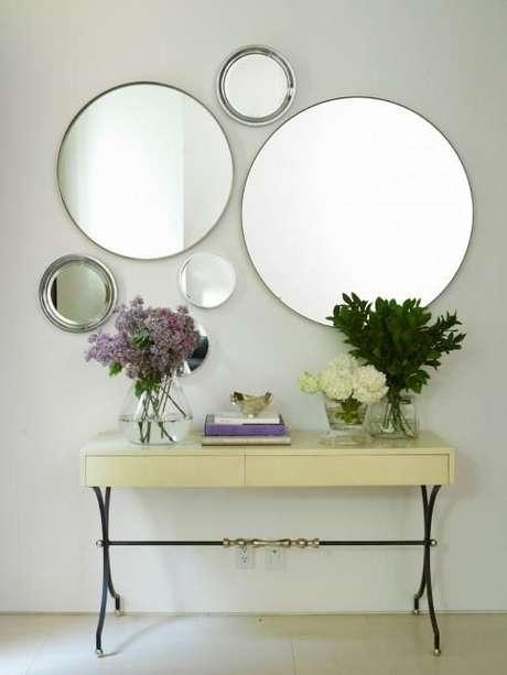 Espejos para decoraci n ba o gimnasios paredes y tocadores for Espejos circulares pared