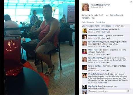 Foto foi postada no perfil da professora no Facebook, mas ganhou repercussão ao ser reproduzido pela página 'Dilma Bolada'