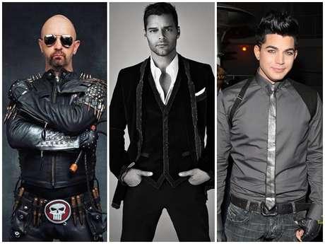 Rob Halford, Ricky Martin y Adam Lambert,