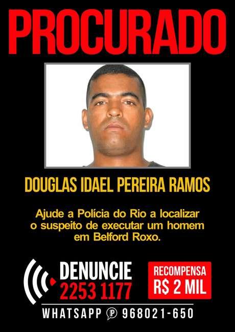 <p>Douglas Idael Pereira Ramos é apontado como o autor do disparo que matou o jovem Igor Falcão</p>