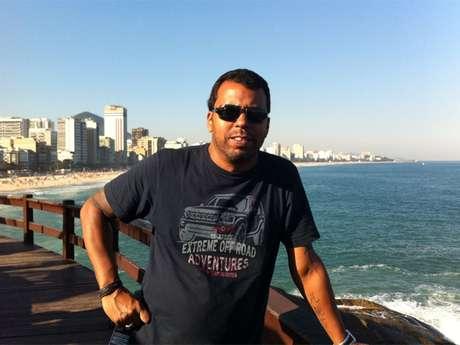 O jornalista Santiago Andrade, em fotografia de arquivo pessoal divulgada pela Rede Bandeirantes