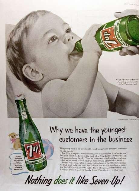"""<p>""""Tenemos los consumidores más jóvenes del mercado"""", dice este anuncio de 7Up</p>"""