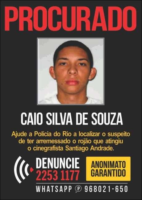 Disque-Denúncia lançou nesta terça-feira um cartaz com a foto do suspeito