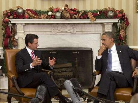 <p>Aunque será su segunda reunión con Peña Nieto como presidente de México, el 27 de noviembre de 2012, Barack Obama recibió en la Casa Blanca a EPN como mandatario electo tras ganar los comicios de julio.</p>