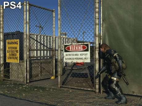 Cena de 'Metal Gear Solid V' no PS4