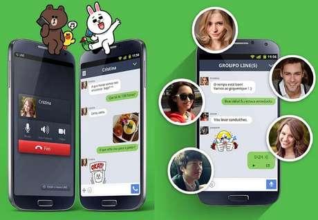 Line - O app é o maior competidor do WhatsApp, e além de permitir o envio de mensagens de texto, imagens, vídeo e áudio, também possibilita fazer ligações ou videoconferências pela internet. Com 350 milhões de usuários no mundo, o Line é compatível com computadores Windows, OS X e celulares iPhone, Android, BlackBerry, Windows Phone, Nokia Asha e Firefox OS.