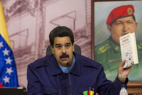 Presidente venezuelano, Nicolas Maduro, fala em entrevista coletiva