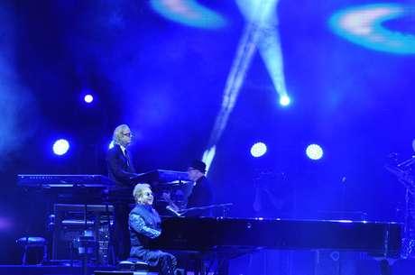 Elton John durante show em Salvador