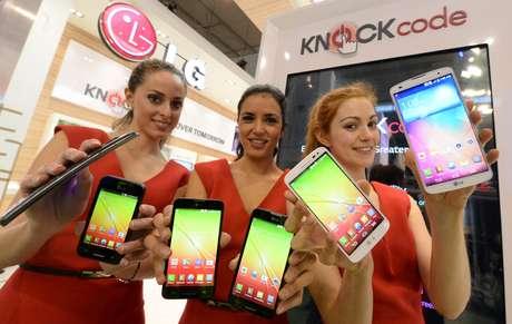 <p>LG durante o lançamento do G2 Mini na última edição do Mobile World Congress, em fevereiro de 2014</p>