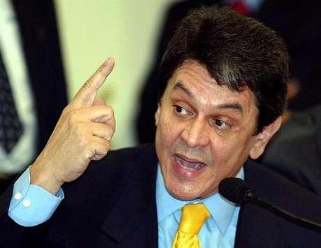 O ex-deputado Roberto Jefferson, delator do esquema que ficou conhecido como mensalão, em foto de 2005, na capital federal.