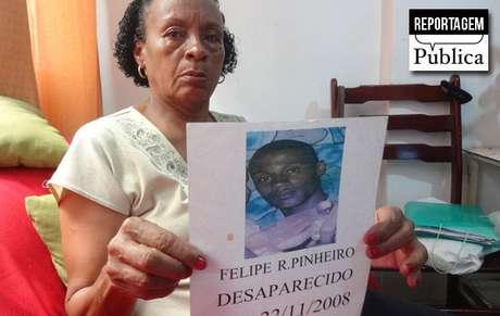 Felipe desapareceu em 2008 e até hoje seu caso não foi esclarecido
