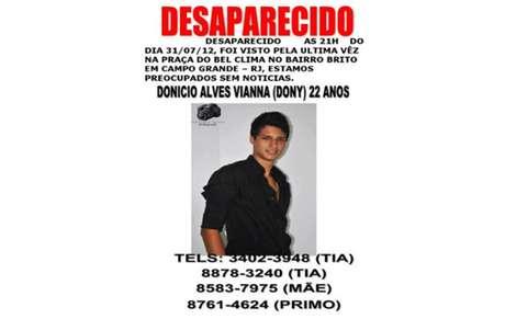 Dony desapareceu em 2012, em Campo Grande