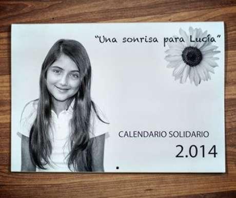 Portada del calendario solidario de Lucía